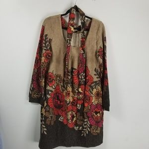 Aryeh longsleeve sweater dress size Xl floral